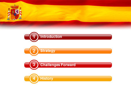Spanish Flag PowerPoint Template Slide 3