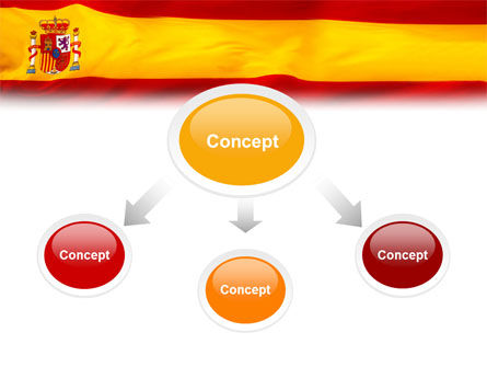 spanish flag powerpoint template backgrounds 01942
