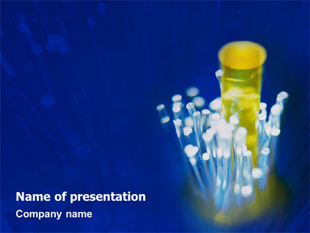 Technology and Science: Optical Fiber Lines PowerPoint Template #01943
