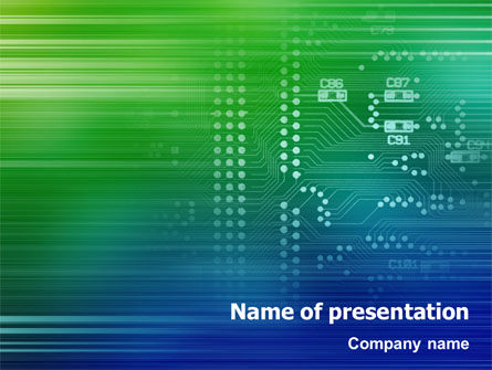Printed circuit board powerpoint template backgrounds 01945 printed circuit board powerpoint template 01945 technology and science poweredtemplate toneelgroepblik