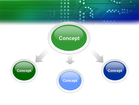 Printed Circuit Board PowerPoint Template, Slide 4, 01945, Technology and Science — PoweredTemplate.com