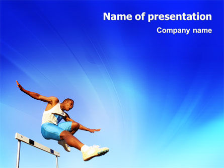 Sports: Obstacle Course PowerPoint Template #01949