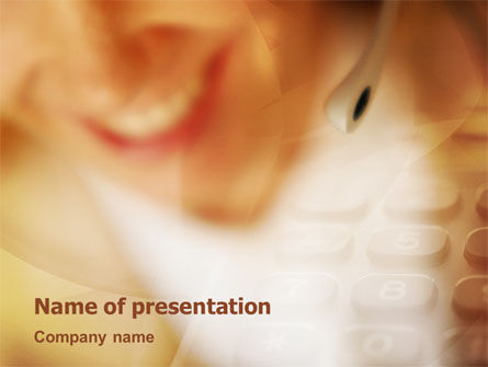 Consulting: Modern Call Center PowerPoint Template #01951