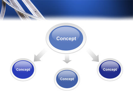 Autobahn Interchange PowerPoint Template Slide 4