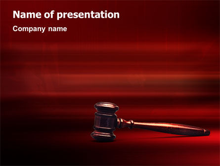 Judge Mallet PowerPoint Template, 01953, Legal — PoweredTemplate.com