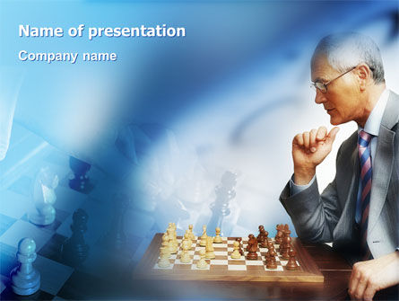 Sports: Chess Game PowerPoint Template #01955