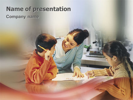 Children In Creation PowerPoint Template