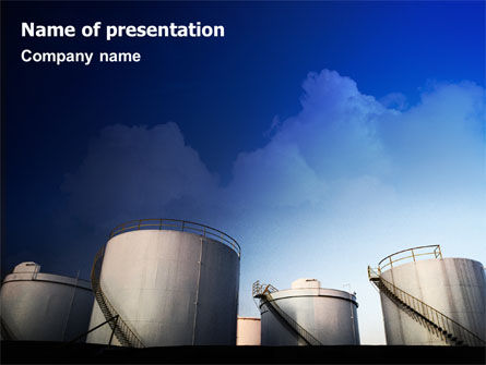 Fuel Tank PowerPoint Template, 01958, Utilities/Industrial — PoweredTemplate.com
