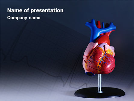 Medical: Heart Model PowerPoint Template #01960