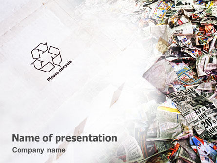Nature & Environment: Kringloopindustrie PowerPoint Template #01961