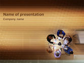 Business: Business Discussion PowerPoint Template #01963