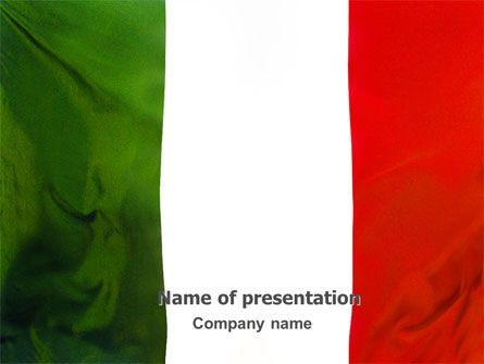 Flags/International: Italian Flag PowerPoint Template #01964