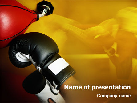 Sports: Boxing Training PowerPoint Template #01965