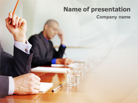 Annual Board Meeting PowerPoint Template, 01966, Business — PoweredTemplate.com