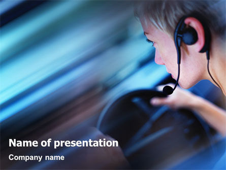 Consulting: Driving Safety Free PowerPoint Template #01967