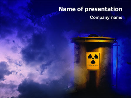 Nuclear Waste PowerPoint Template, 01969, Nature & Environment — PoweredTemplate.com