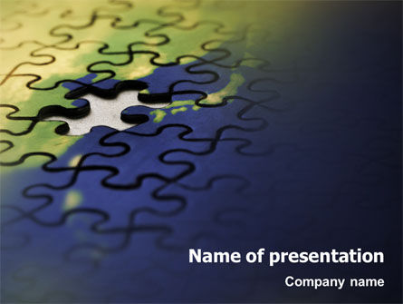 Puzzle of World PowerPoint Template