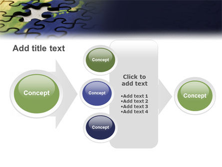 Puzzle of World PowerPoint Template Slide 17