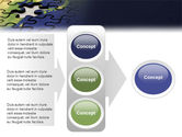 Puzzle of World PowerPoint Template#11