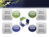 Puzzle of World PowerPoint Template#9