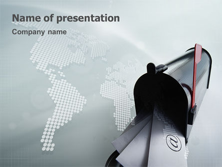Telecommunication: Mail Box PowerPoint Template #01972