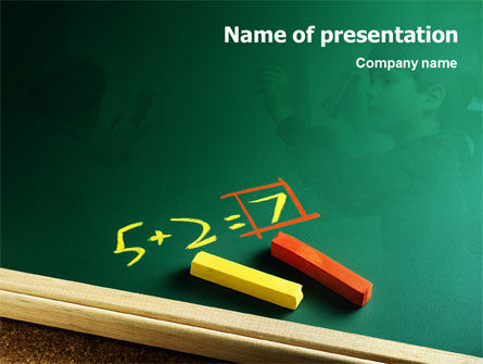 Arithmetic PowerPoint Template, 01974, Education & Training — PoweredTemplate.com
