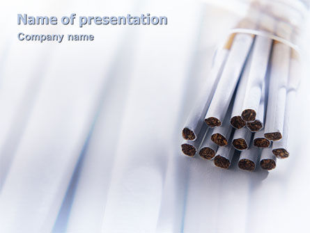 Medical: Cigarettes PowerPoint Template #01977