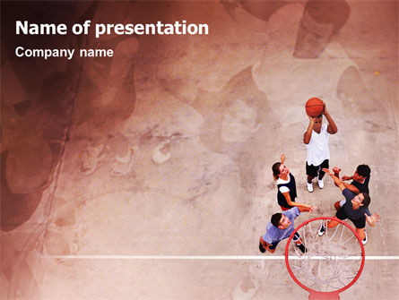 Sports: Streetball PowerPoint Template #01979