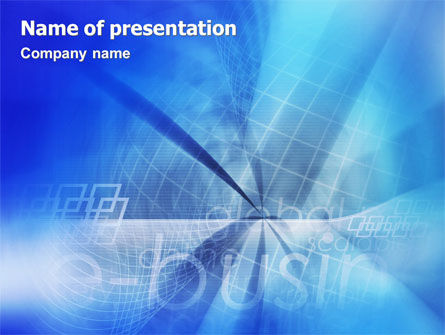 Business Concepts: E-business PowerPoint Template #01983