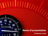 Sports: Speedometer PowerPoint Template #01985