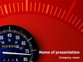 Sports: Modèle PowerPoint de compteur de vitesse #01985