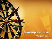 Business: Darts PowerPoint Template #01986