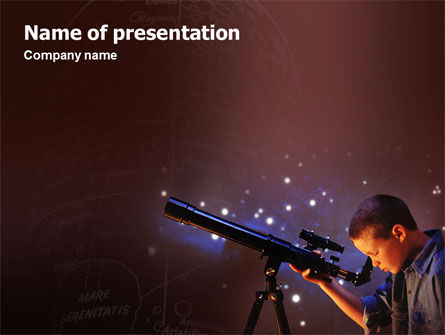 Education & Training: Astronomy PowerPoint Template #01987