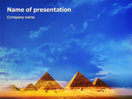 Art & Entertainment: Pyramiden PowerPoint Vorlage #01988