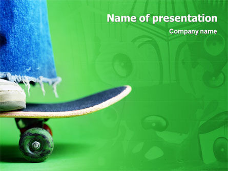 Sports: Skateboard PowerPoint Template #01993