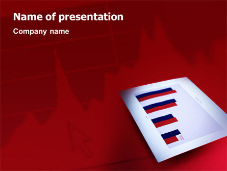Financial/Accounting: Red Histogram PowerPoint Template #01994