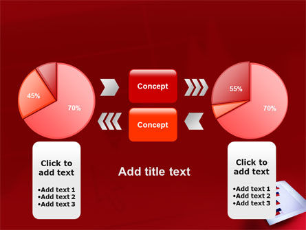 Red Histogram PowerPoint Template Slide 11