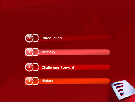 Red Histogram PowerPoint Template Slide 3