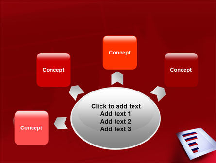 Red Histogram PowerPoint Template Slide 7
