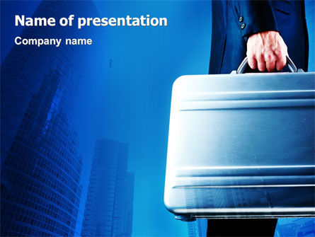 Suitcase  PowerPoint Template, 01996, Business Concepts — PoweredTemplate.com