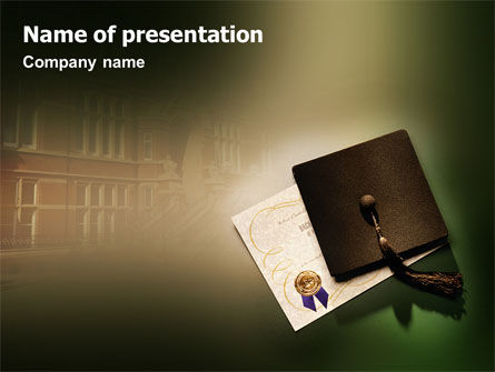 Education & Training: Diploma PowerPoint Template #01997