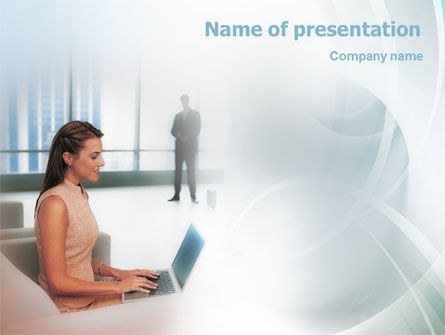 Secretary PowerPoint Template, 01999, Business — PoweredTemplate.com