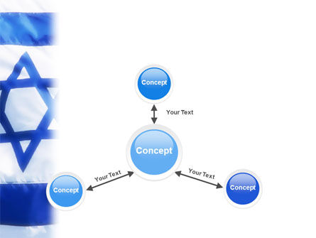 Flag of Israel PowerPoint Template Slide 14