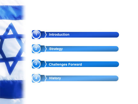 Flag of Israel PowerPoint Template Slide 3