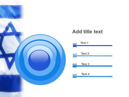 Flag of Israel PowerPoint Template Slide 9