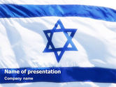 Flags/International: Flag of Israel PowerPoint Template #02002