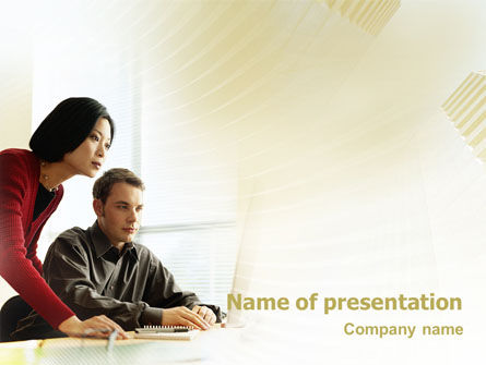 Business Consulting Session PowerPoint Template, 02003, Consulting — PoweredTemplate.com
