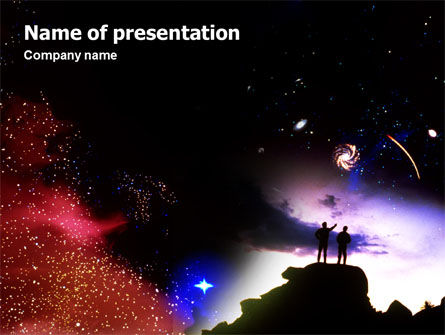 Education & Training: Astronomical Research PowerPoint Template #02005