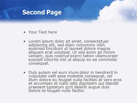 Cloudy Sky PowerPoint Template, Slide 2, 02006, Nature & Environment — PoweredTemplate.com