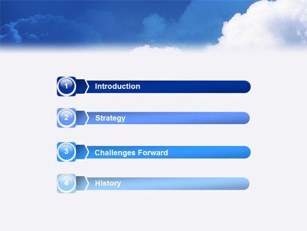 Cloudy Sky PowerPoint Template, Slide 3, 02006, Nature & Environment — PoweredTemplate.com